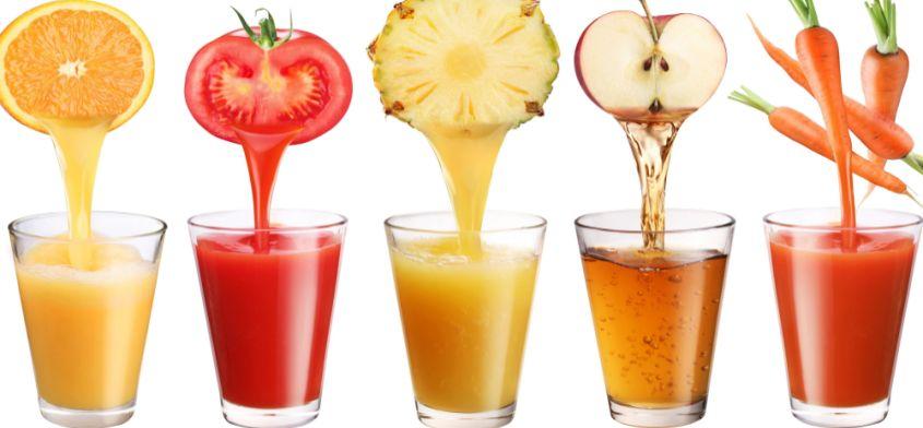 Dobrodziejstwo soków owocowych i warzywnych